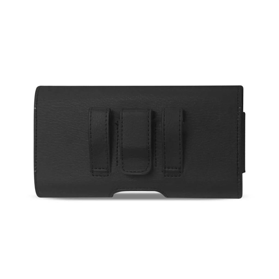 Reiko (inside: 7.00 x 3.86 x 0.71 in) Horizontal Leather Card Holder Pouch For Universal Devices (HP500B-703907)