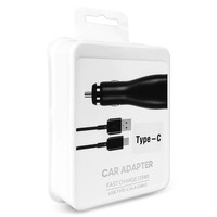 Car Charger Travel Adapter 15W with Type C Dual USB-3.0 Cable