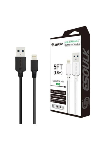 ESOULK | Lightning Heavy Duty USB 5ft Cable 1.5A - EC30P