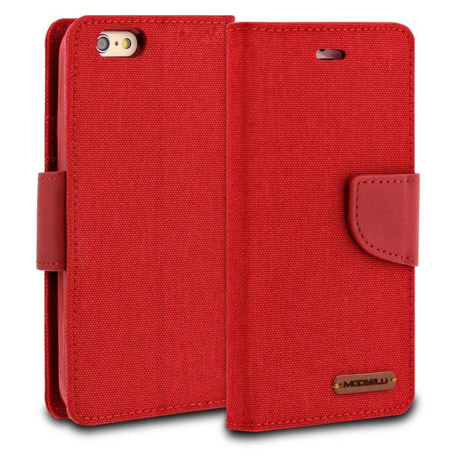 ModeBlu Canvas Wallet Pocket Diary Case for iPhone 6/6S Plus