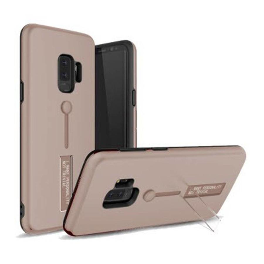 Guardian PC Solid Color Case with Finger Holder and Kickstand for Galaxy S9 Plus - Shield Band
