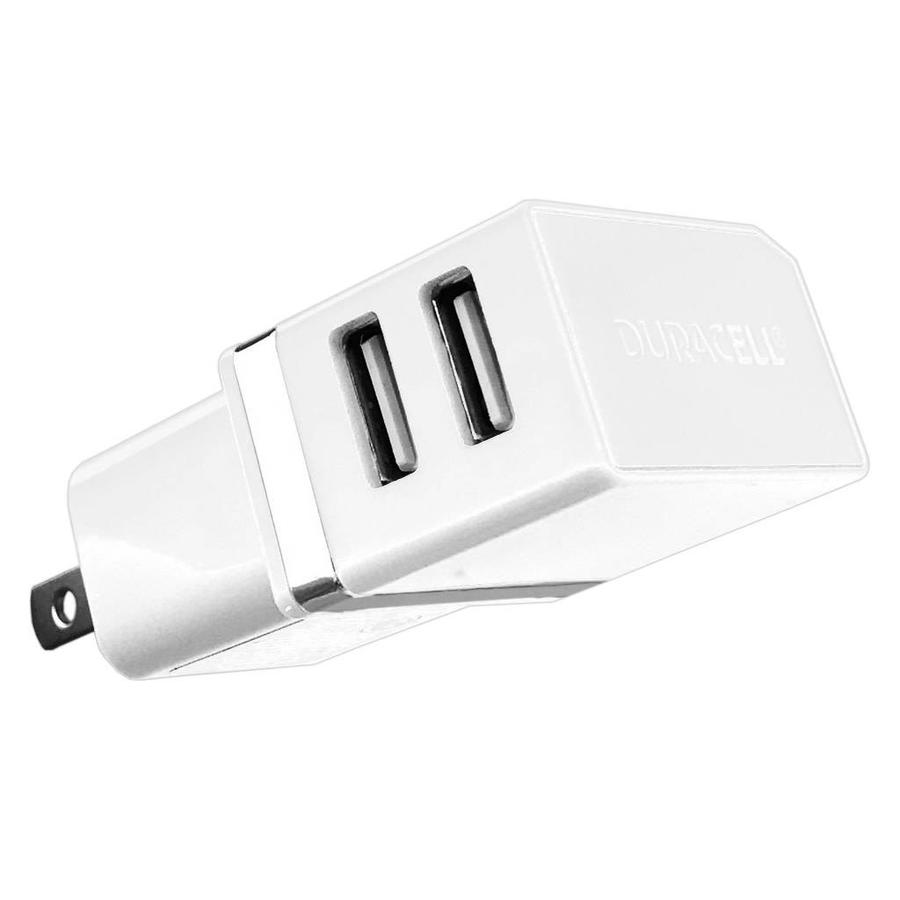 DURACELL 2.1A Dual USB Home AC Wall Charger