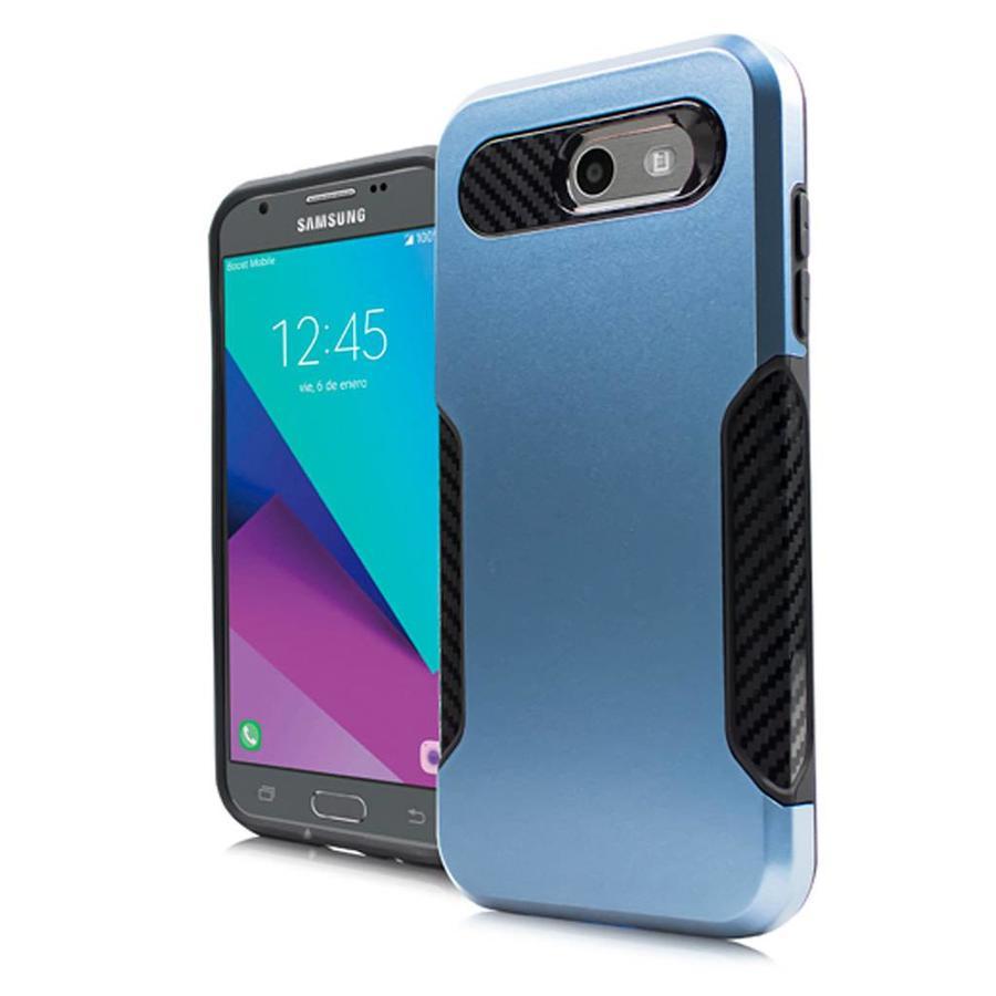 Carbon Slim Metallic Case for Galaxy J3 Emerge / Prime (2017)