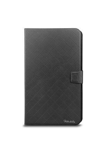 Universal 7 inch Tablet Diamond Pattern PU Leather Wallet Case with 2 Credit Card Slots