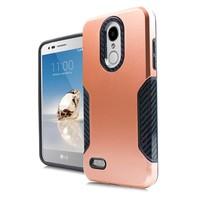 Carbon Slim Metallic Case for LG Aristo 2 & 3 / Tribute Dynasty / Empire