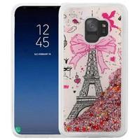 Liquid Quicksand with Glitter Design Hybrid Hard PC TPU Case for Galaxy S9 - Paris