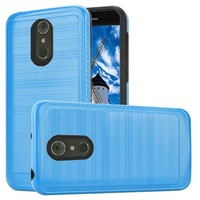 Metallic PC TPU Brushed Case with Carbon Fiber Edge for LG Stylo 4