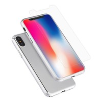 Fashion PC 360 Degree Protective Case with Tempered Glass For iPhone X / XS