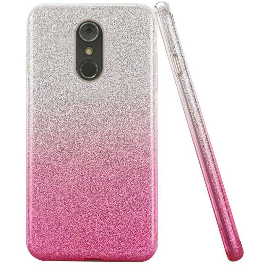 Gradient Two Tone Glitter Paper TPU Gel Case For LG Stylo 4