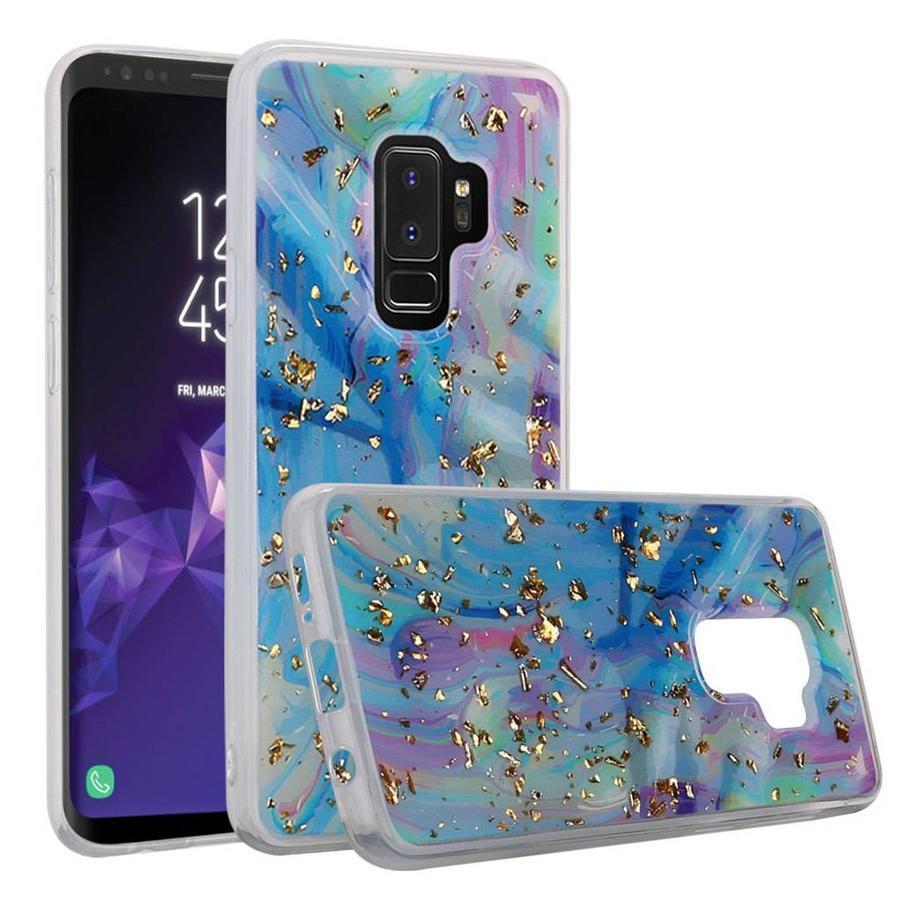 Marble Glitter TPU Gel Case for Galaxy S9 Plus