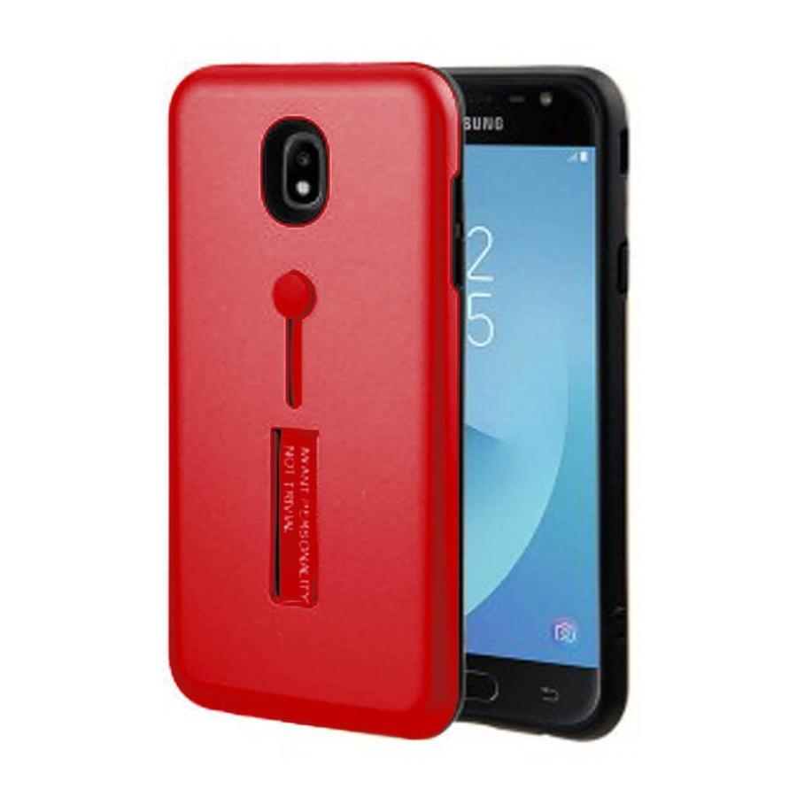 Guardian PC Solid Color Case with Finger Holder and Kickstand for Galaxy J3 Achieve (2018) - Shield Band