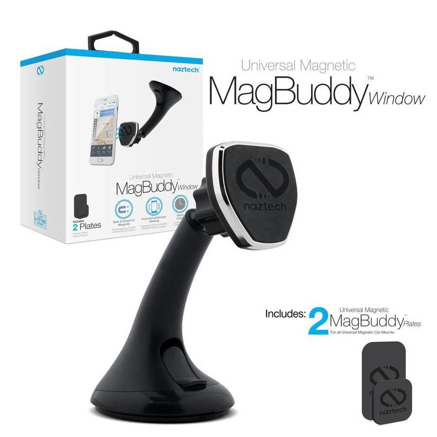 Naztech Magnetic Universal Car Phone Holder / Mount - MagBuddy Windshield