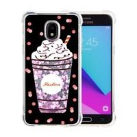 Guardian PC + TPU Liquid Quicksand with Fashion Milkshake Cup Case for Galaxy J3 Achieve (2018) - Art Milkyway
