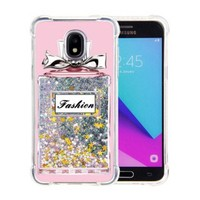 Guardian PC + TPU Liquid Quicksand with Perfume Bottle Case for Galaxy J3 Achieve (2018) - Art Milkyway