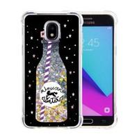 Guardian PC + TPU Liquid Quicksand with Unicorn Water Bottle Case for Galaxy J3 Achieve (2018) - Art Milkyway