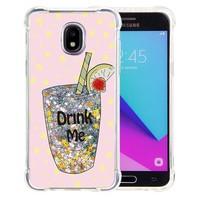 Guardian PC TPU Liquid Quicksand Drink Me Case for Galaxy J3 Achieve (2018) - Air Art Milkyway