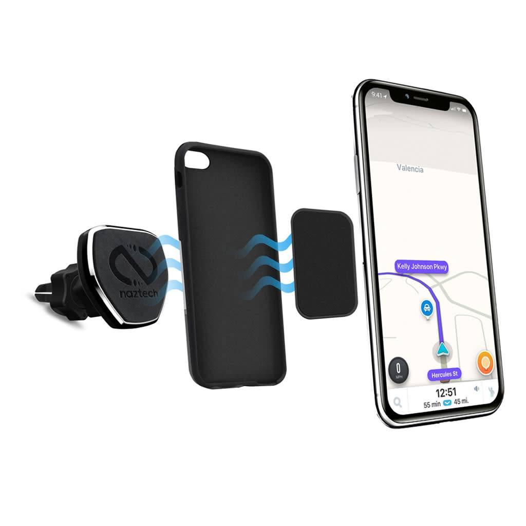 Black Retail Packaging Naztech Universal Magnetic Car Mount Holder for Smartphones