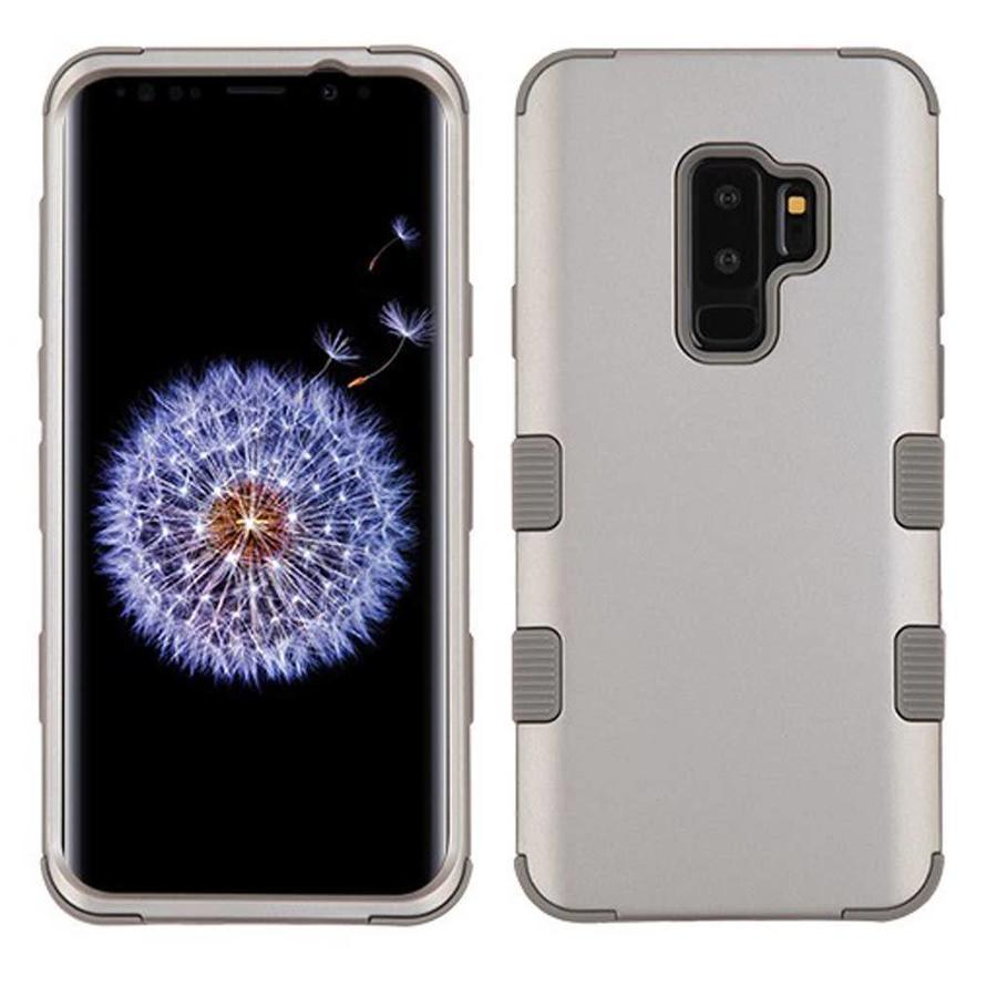 MYBAT TUFF Titanium Hybrid Protector Case [Military-Grade Certified] for Galaxy S9 Plus