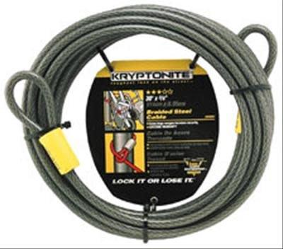 Kryptonite Kryptonite, KryptoFlex 3010, Cable lock, 10mm, 9.14m, 30', Black
