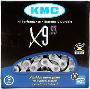 KMC KMC, X9, Chain, 9sp., 116 links, Silver