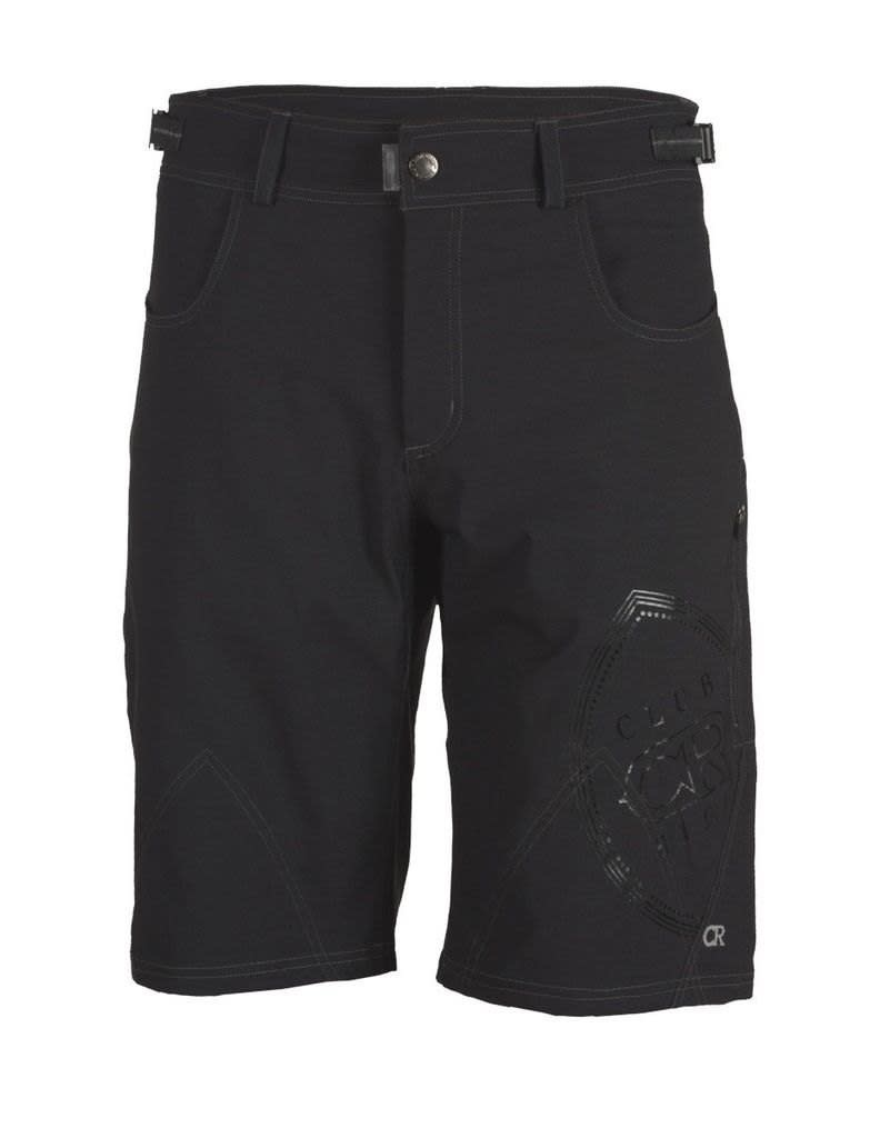 "Club Ride Club Ride Men's Powerweave 12"" Inseam Short Raven L"