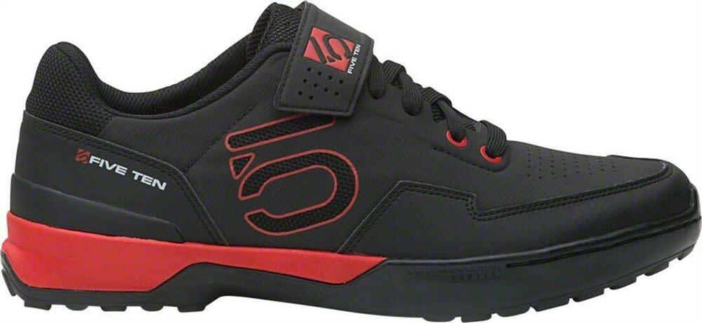 Five Ten Five Ten Kestrel Lace Men's Clipless Shoe: Black/Red 9.5