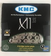 KMC Chain KMC, X11, Chain, 11sp., 118 Links, Nickel/Black