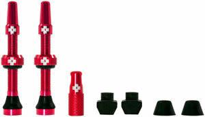 Muc-Off Muc-Off, Tubeless Valve, Presta, 44mm, Red, Pair