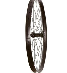 Wheel Shop Wheel Shop, Fratelli FX 35 Plus Black/ Novatec D711SB, Wheel, Front, 29'' / 622, Holes: 32, 15mm TA, 110mm Boost, Disc IS 6-bolt