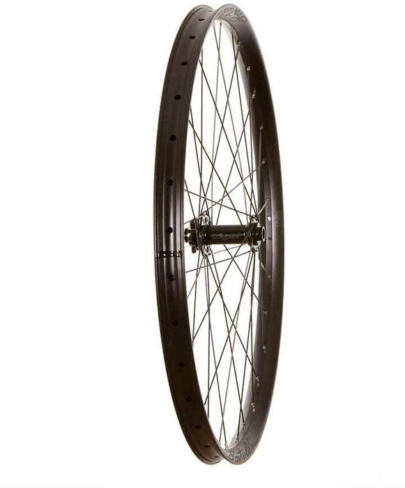 Wheel Shop Wheel Shop, Fratelli FX 35 Plus Black/ Novatec D711SB, Wheel, Front, 29'' / 622, Holes: 32, 15mm TA, 110mm Boost, Disc IS 6-bolt