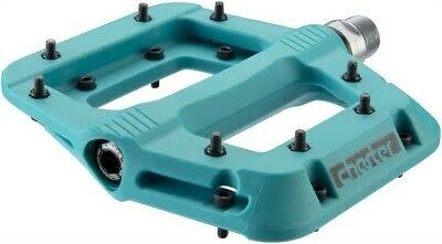 Race Face Race Face, Chester, Platform Pedals, Body: Nylon, Spindle: Cr-Mo, 9/16'', Turquoise, Pair