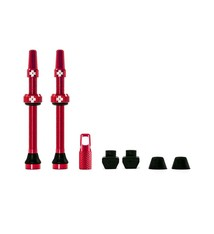 Muc-Off Muc-Off, Tubeless Valve, Presta, 60mm, Red, Pair
