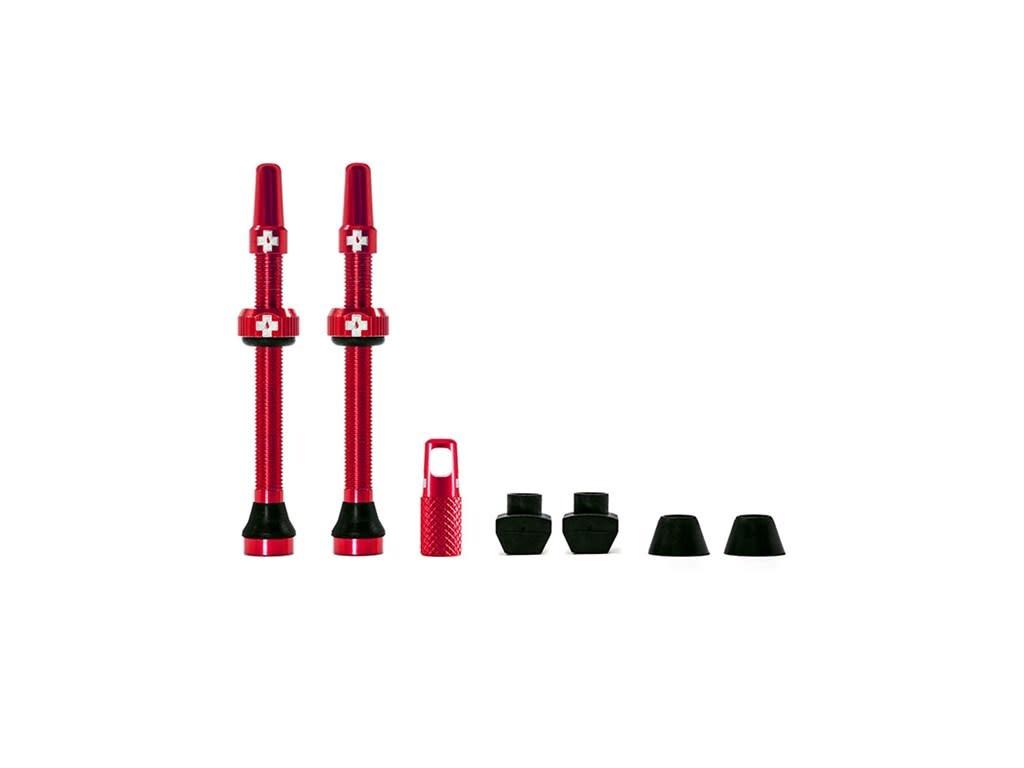 Muc-Off Muc-Off, Tubeless Valve, Presta, 60mm, Red, Pair