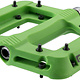 Race Face Race Face, Chester, Platform Pedals, Body: Nylon, Spindle: Cr-Mo, 9/16'', Green, Pair