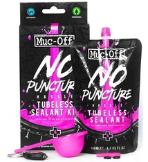Muc-Off Muc-Off, No Puncture Hassle Tubeless Sealant Kit, 140ml