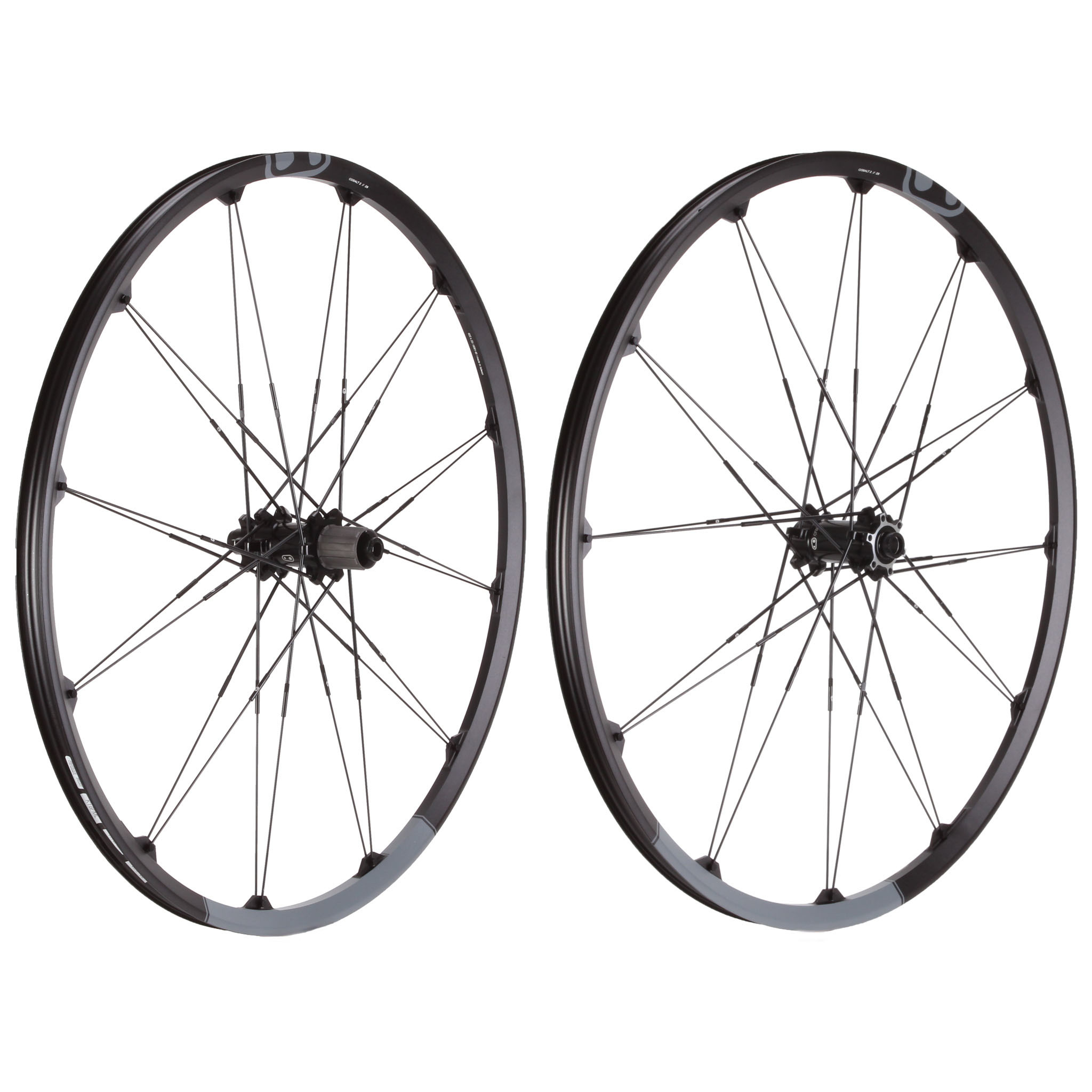 "Crank Brothers Cobalt-2 29"" Wheelset, 15x100/12x142mm Blk/Gry"