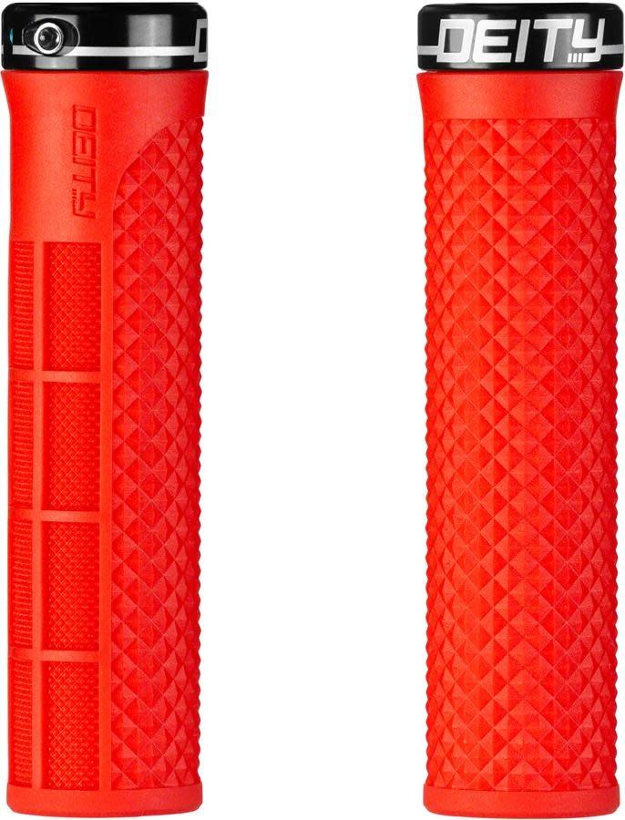 Deity Lockjaw Grips - Red