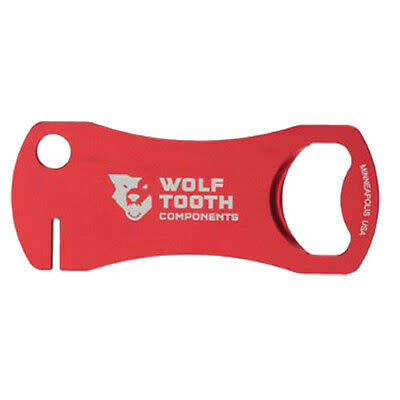 Wolf Tooth Components Bottle Opener and Rotor Truing Tool, Red