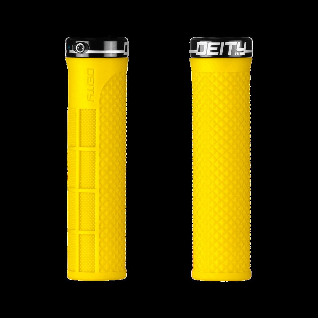 Deity Lockjaw Grips - Yellow