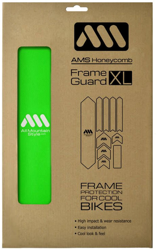 All Mountain Style Extra Honeycomb Frame Guard, Green/White