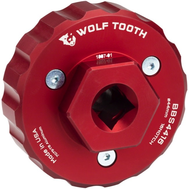 Wolf Tooth Components BB Socket Insert (44mm Cup, 16-Notch) for BB Wrench