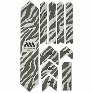 All Mountain Style Extra Honeycomb Frame Guard, Clear/Zebra