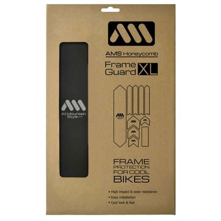 All Mountain Style Extra Honeycomb Frame Guard, Black/Silver