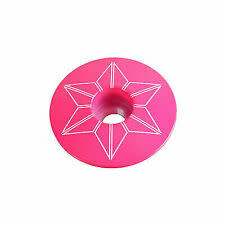 Supacaz Star Plugz Bar Plugs, Powder Coat Neon Pink