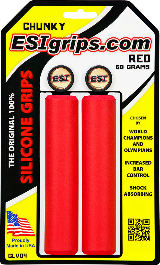 ESI E.S.I., Chunky, Grips, 130mm, Red, Pair