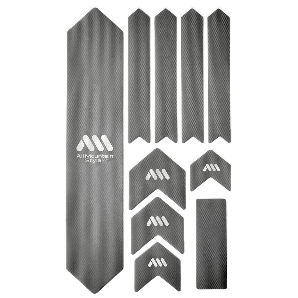 All Mountain Style Extra Honeycomb Frame Guard, Silver/White