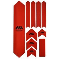 All Mountain Style Extra Honeycomb Frame Guard, Red/Black