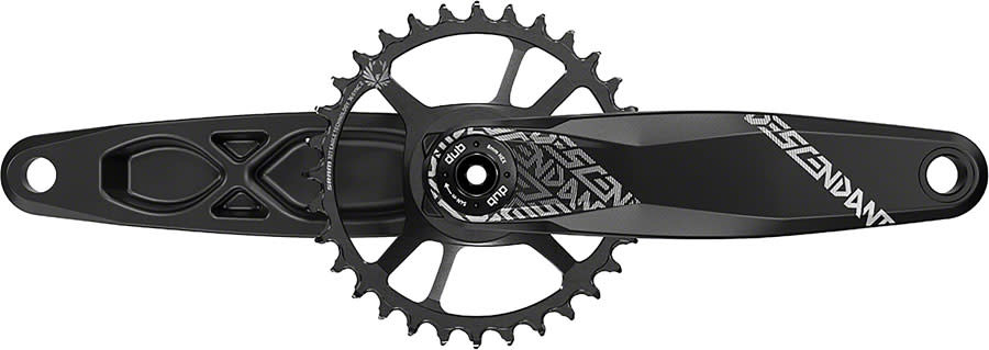 TruVativ TruVativ Descendant 6K Aluminum Eagle Boost Crankset - 170mm, 12-Speed, 32t, Direct Mount, DUB Spindle Interface, Black