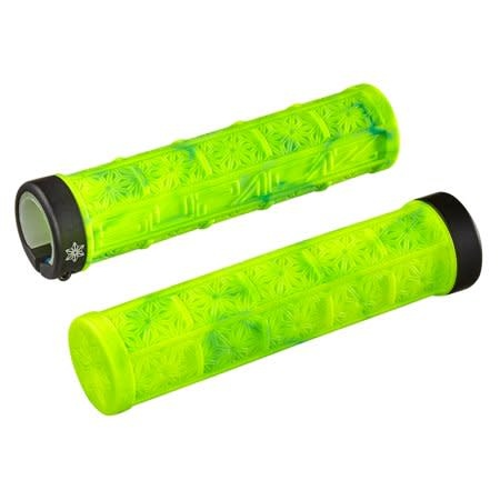 Supacaz Supacaz, Grizips Splash, Grips, 135mm, Neon Yellow/Neon Blue, Pair