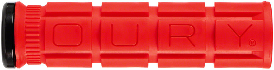 Oury Grips Oury Grips, Single-Sided Lock-On, Grips, 135mm, Candy Red, Pair